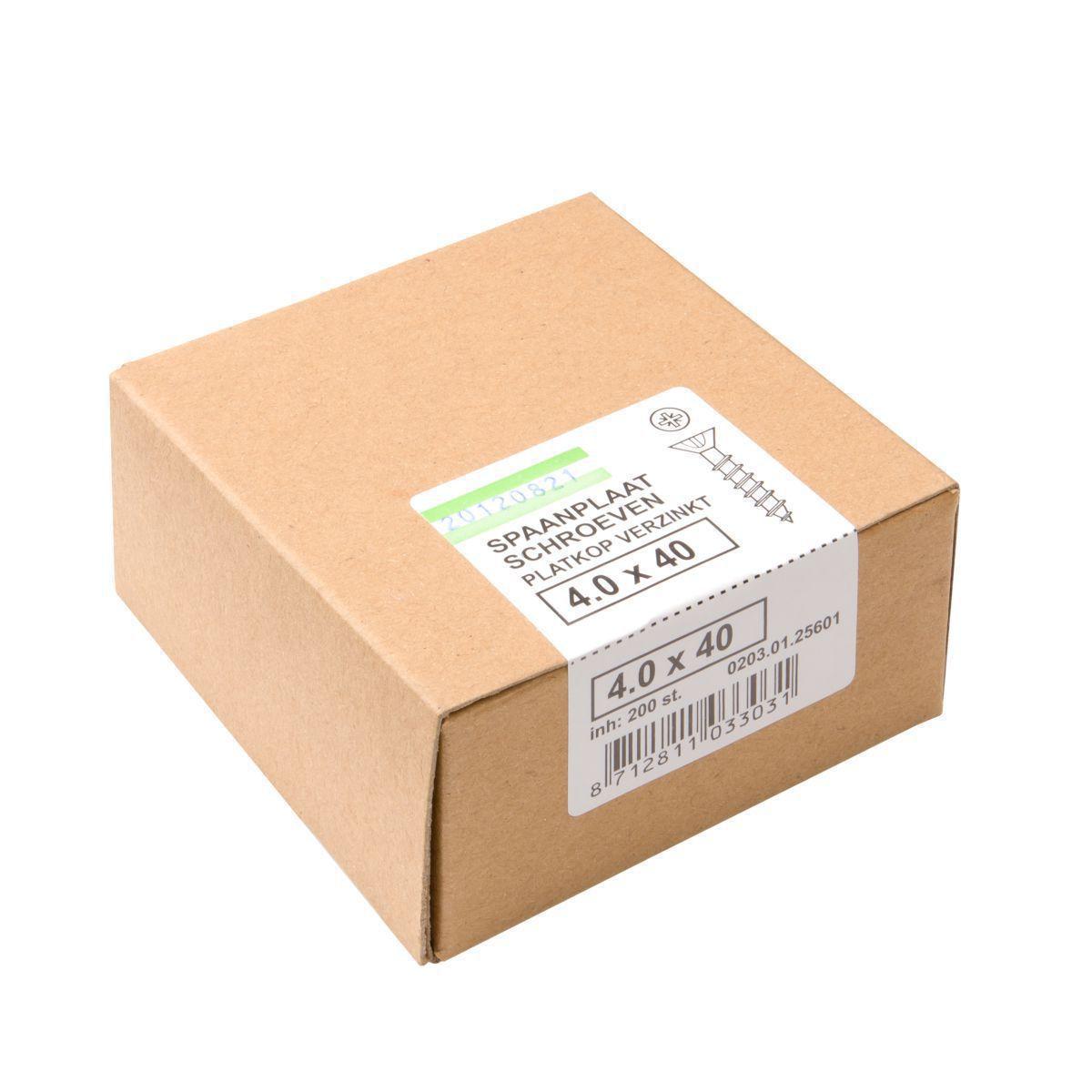 verpakkingspaanplaatschroevenkarton